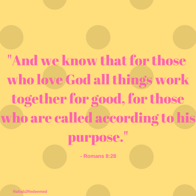 And we know that for those who love God all things worktogether for good, for those who are called according to his purpose.